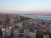Blick vom Galata Turm am Abend