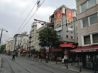 Blick in eine Straße beim Hotel