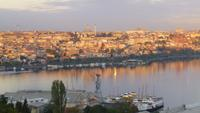Blick aus dem Hotel Grand Halic in Istanbul - Sonnenaufgang