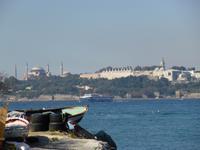 Blick vom asiatischen Teil Istanbuls zur Altstadt - Hagia Sophia und Topkapi Serail