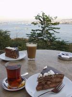 Tee und Kuchen direkt am Bosporus