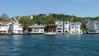 Schifffahrt auf dem Bosporus: Villen auf der asiatischen Seite des Bosporus