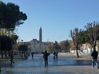 Blick auf den Ägyptischen Obelisk