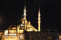 Blaue Moschee bei Nacht in Istanbul