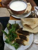 Kebab-Mittagessen