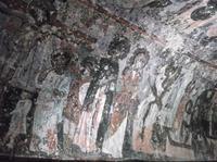 Freskenmalerei in einer Höhlenkirche