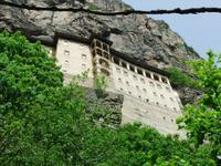 Noch ein letzter Blick hinauf zum Kloster