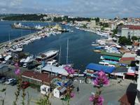 Blick auf den Hafen von Sinop
