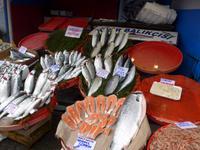 Türkei, Istanbul, Stadtrundgang, Fischmarkt im Galata-Viertel