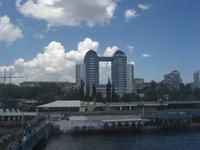 im Hafen von Saporoschje
