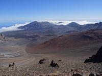 Maui, Vulkan Haleakala -  angekommen und Blick in die Kraterlandschaft