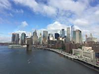 Manhattan mit Brooklyn Bridge