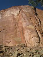 eine Sandsteinschicht im Capitol Reef