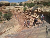 Abstieg über Slickrock