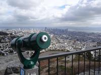 San Francisco - Blick von den Twin Peaks auf die Stadt