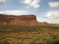 Auf der Fahrt zum Monument Valley