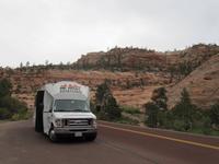 unser Reisebus im Zion Nationalpark