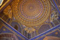 Usbekistan - Moschee der Tilya-Kori-Madrasa am Registan-Platz in Samarkand