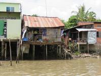 Häuser im Mekong-Delta