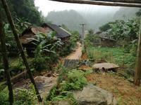 Morgenstimmung im Dorf Koh Moung