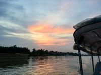 Sonnenuntergang auf dem Saigon River