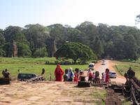 Elefanten-Terasse mit Prasat Suor Prat im Hintergrund (Angkor Thom)