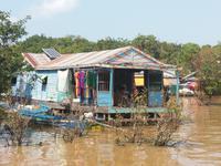 Schwimmende Häuser auf dem Tonle Sap