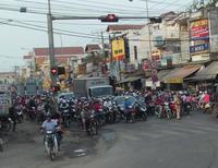 Massen an Motorrollern