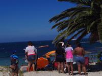 Ferienzeit in Südafrika = volle Strände