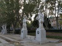 Park vor Königspalast Madrid