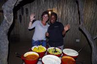 Abendessen in der Boma